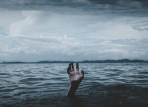 Drowning as metaphor for writer's block